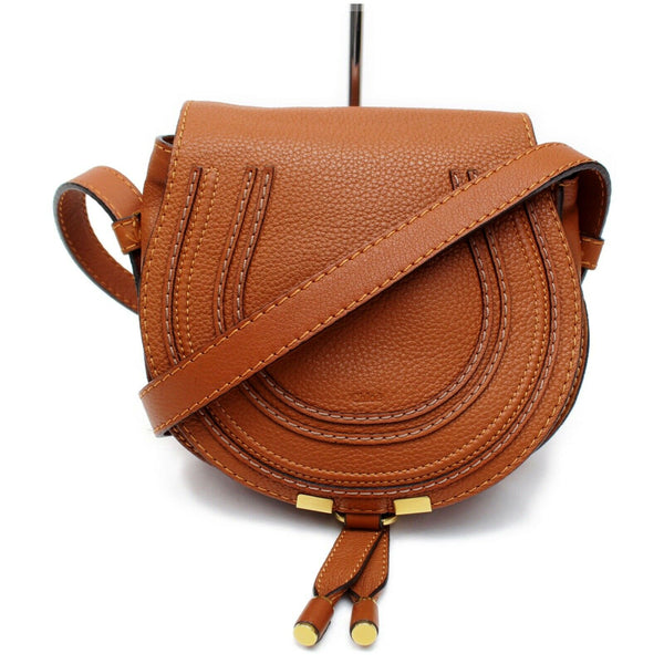 Authentic Chloe Shoulder Bag Mercy Brown Leather (SHC7-11000)