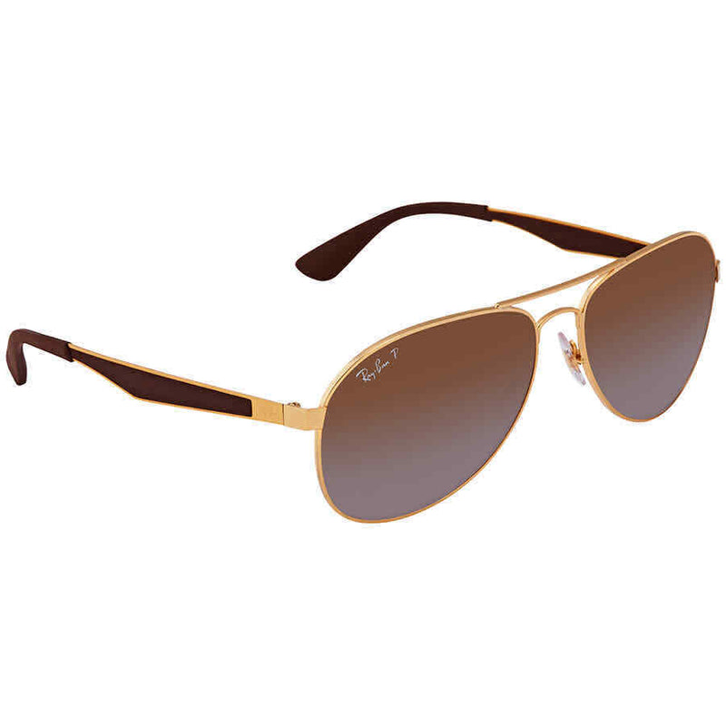 RayBan RB3549 Brown Gradient Pilot Sunglasses RB3549 001/T5 61 RB3549 001/T5 61