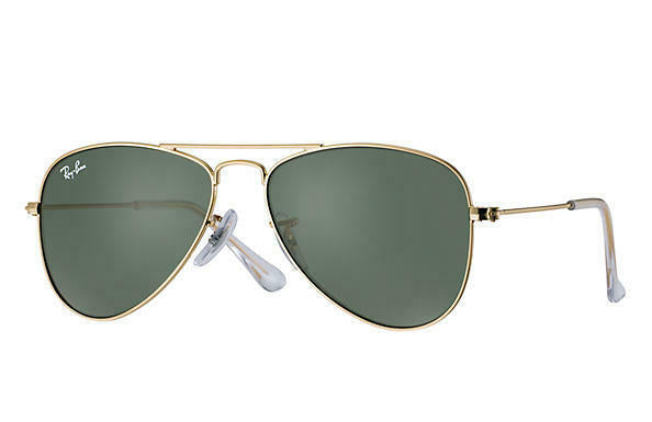 Ray Ban Junior Green Classic Aviator Sunglasses 0RJ9506S-223/71-50