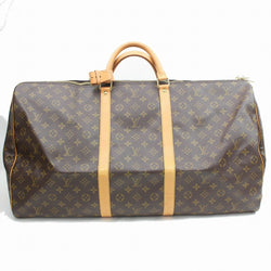 Louis Vuitton Boston Bag Keepall 60 Brown Monogram (SHC7-11104)