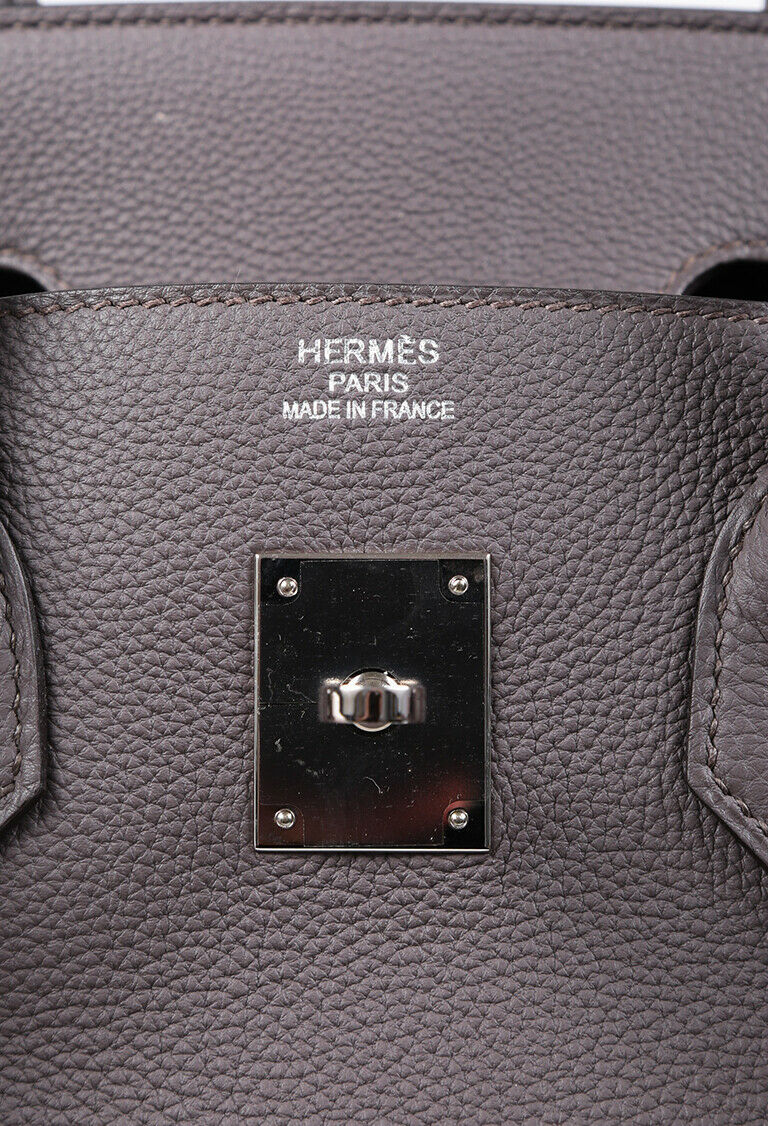Hermes Bag Birkin 35 Gray Etain Togo Leather