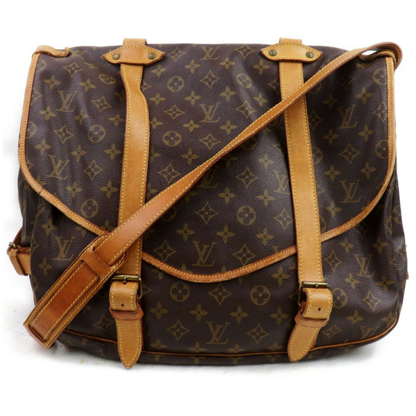 Louis Vuitton Shoulder Bag Saumur 35 Brown Monogram (SHC7-10954)