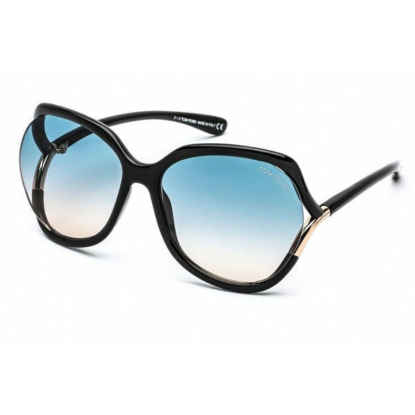 Tom Ford Ladies Black Butterfly Sunglasses FT0578 01W 60 FT0578 01W 60