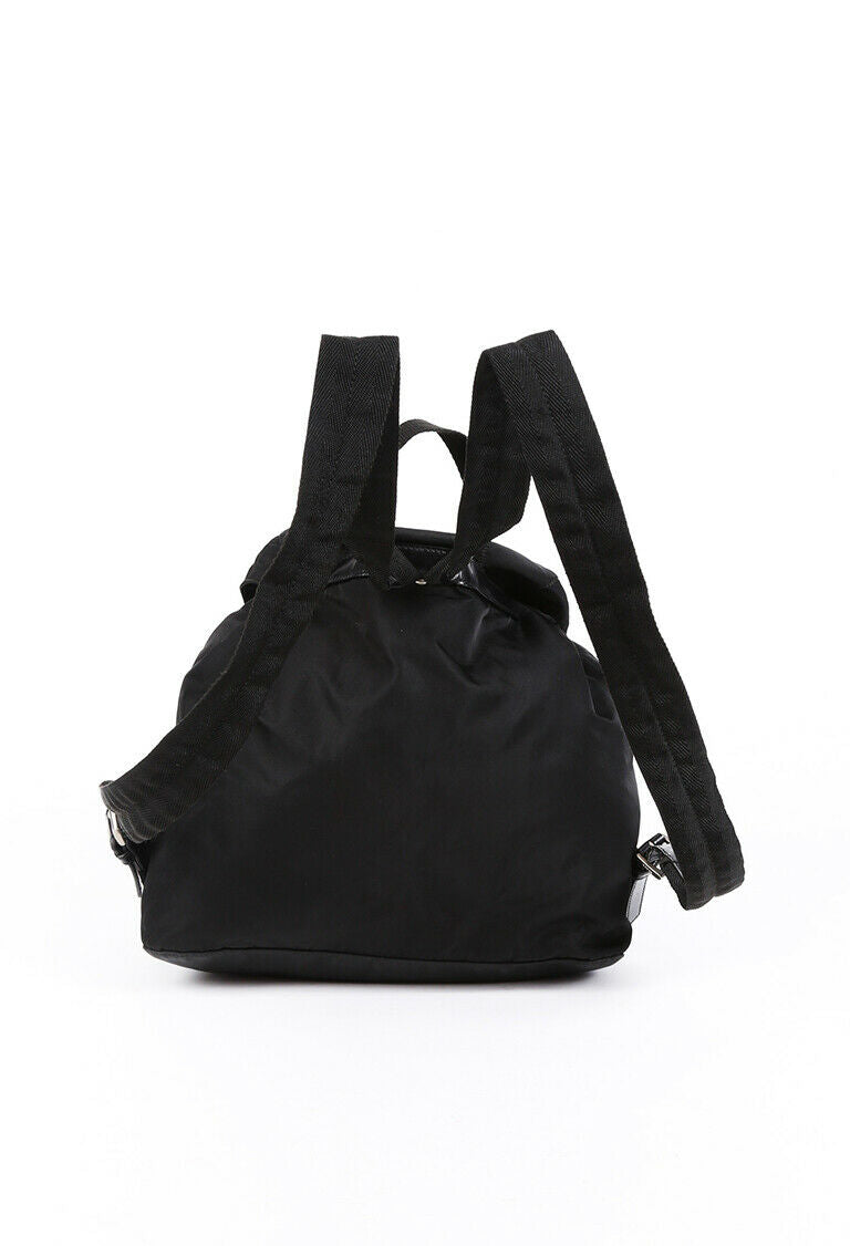Prada Backpack Black Nylon Logo