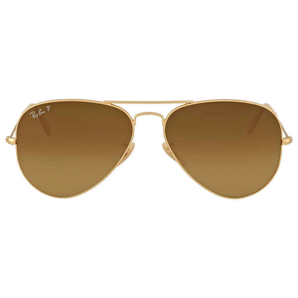 Ray-Ban Aviator Gradient Polarized Brown Sunglasses RB3025 112/M2 58