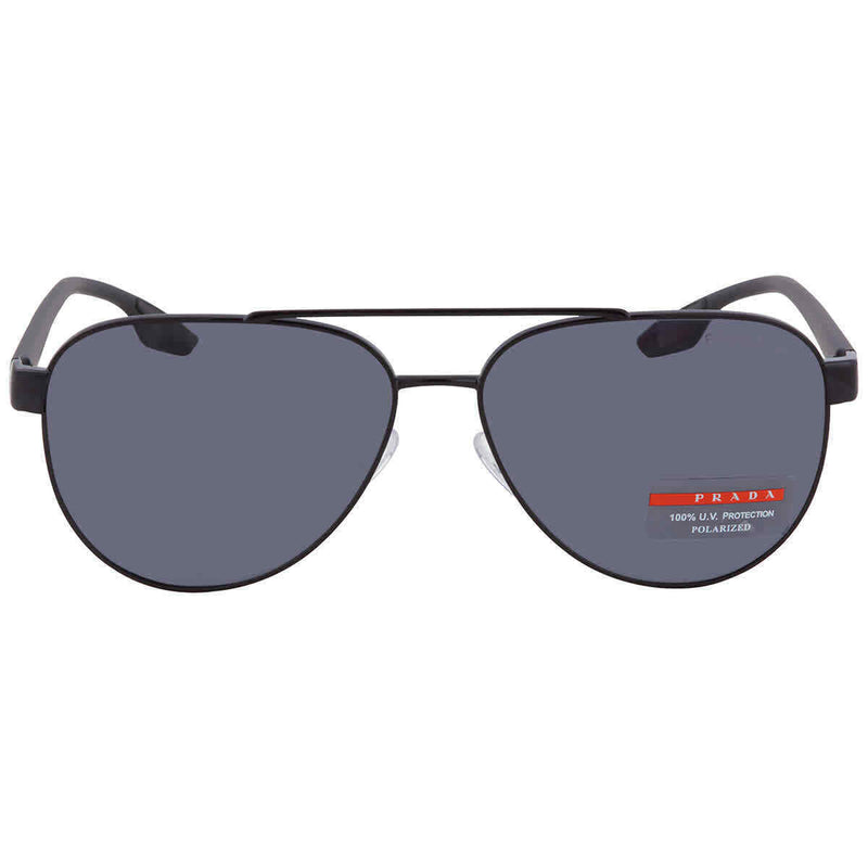 Prada Grey Aviator Sunglasses PS54TS 1AB5Z1 58 PS54TS 1AB5Z1 58