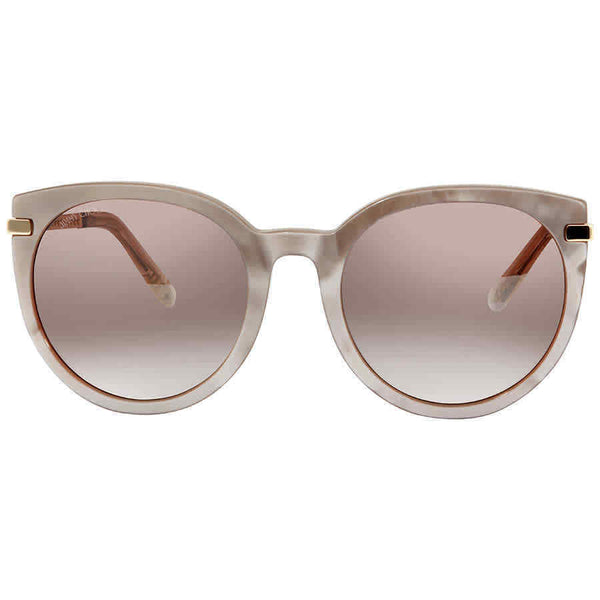 Jimmy Choo Dena Brown Cat Eye Ladies Sunglasses DENA/F/S 56NQ 56 DENA/F/S 56NQ