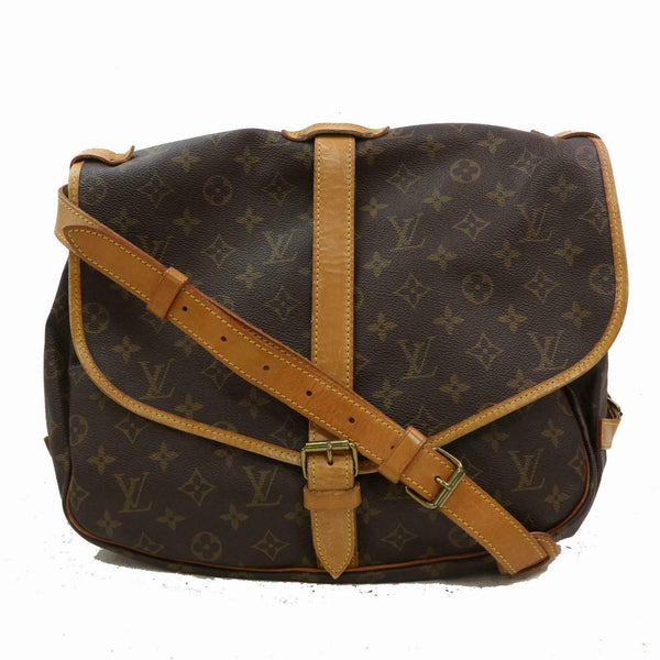 Louis Vuitton Shoulder Bag Saumur 35 Brown Monogram (SHC7-10449)