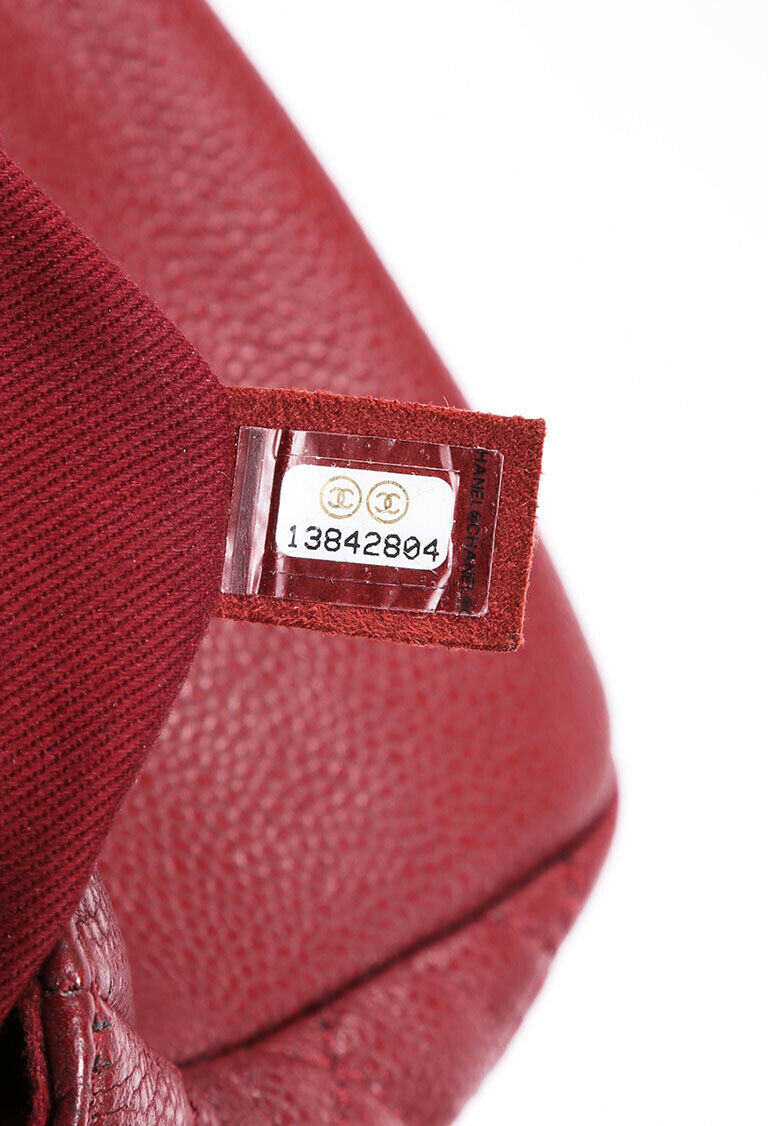 Chanel Bag Timeless Medium Red Caviar Leather Quilted CC