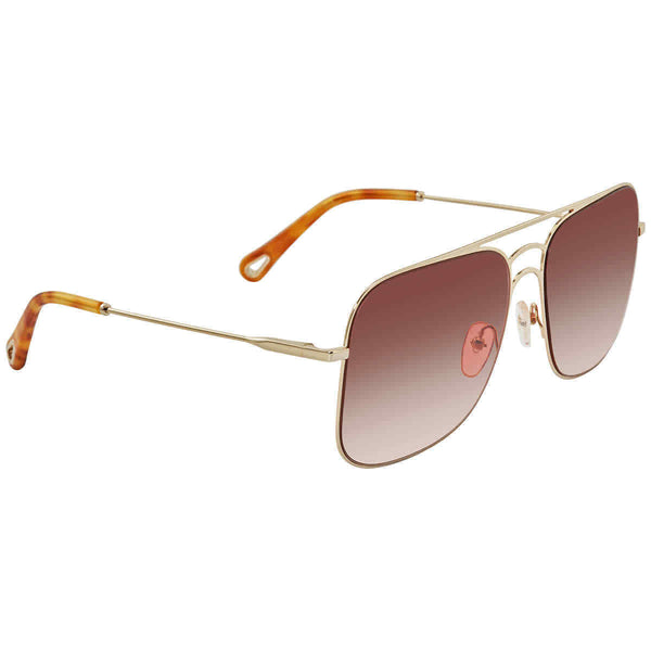 Chloe Light Wine Aviator Ladies Sunglasses CE140S 808 58 CE140S 808 58