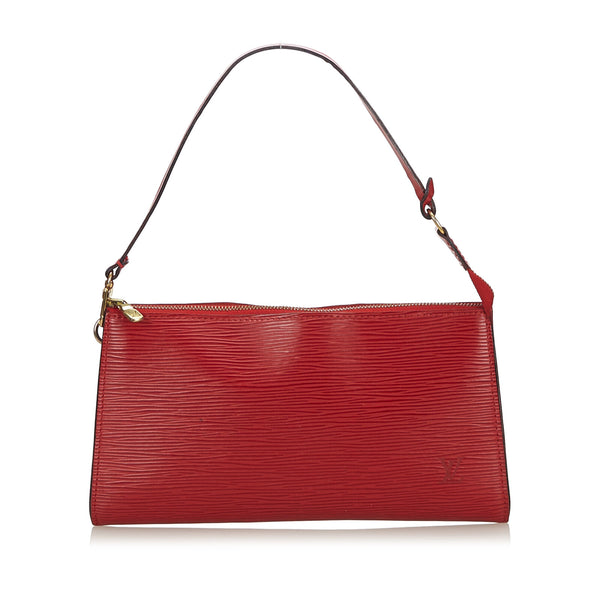 Pre-Loved Louis Vuitton Red Epi Leather Pochette Accessoires France