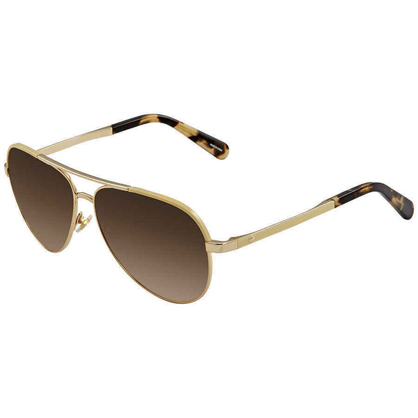 Kate Spade Amarissa Brown Gradient Aviator Ladies Sunglasses AMARISSAS 00NR 59