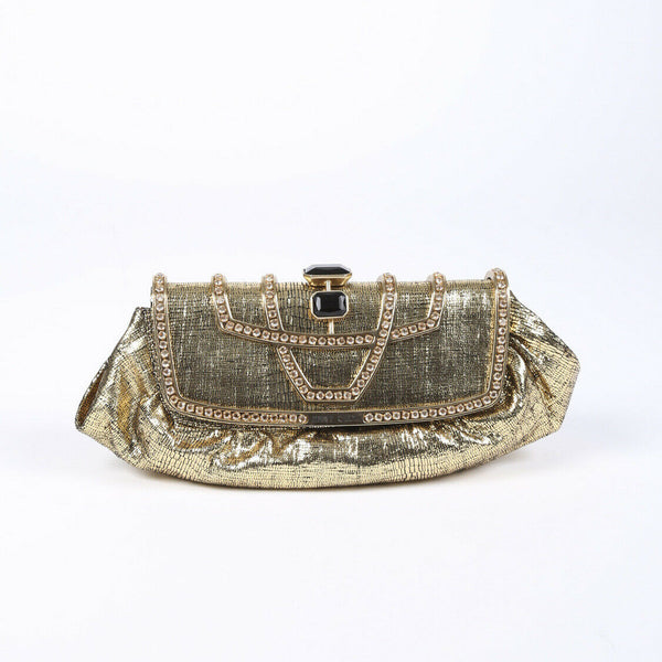 Jimmy Choo Metallic Crystal Clutch