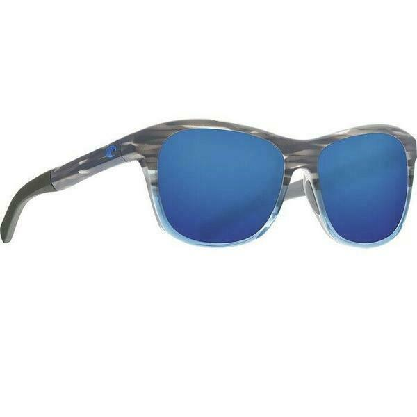 Costa Del Mar Ocearch Vela Polarized Blue Mirror Rounded Edges Sunglasses VLA