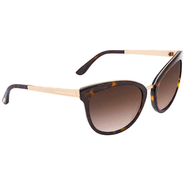 Tom Ford Emma Brown Gradient Flash Cat Eye Sunglasses FT0461-52G