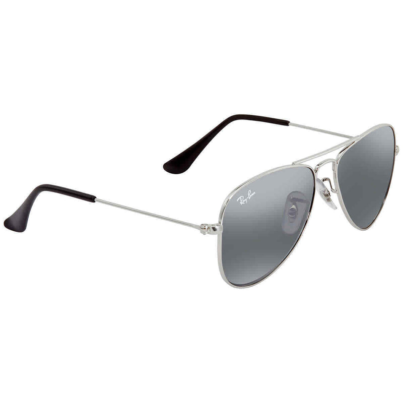 Ray Ban Junior For Kids Grey Mirror Aviator Sunglasses RJ9506S-212/6G-50