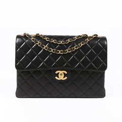 Vintage Chanel Jumbo XL Quilted Classic Single Flap Bag