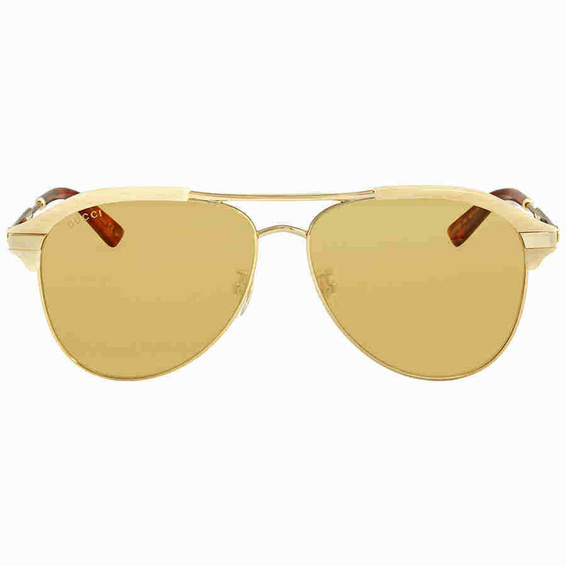 Gucci Brown Aviator Sunglasses GG0288SA-004 60 GG0288SA-004 60