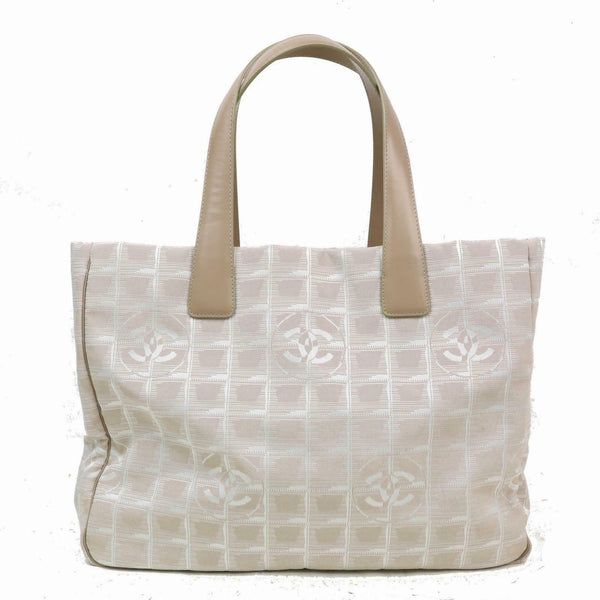 Authentic Chanel Tote Bag New Travel Tote Canvas (SHC1-14972)