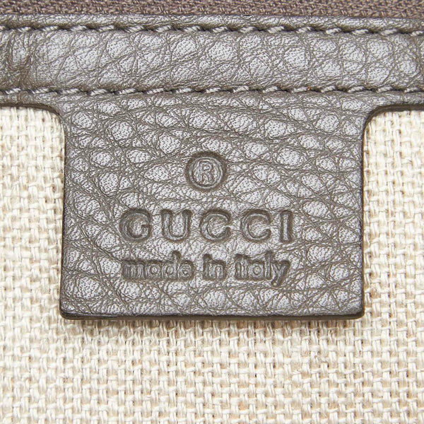 Pre-Loved Gucci Gray Python Leather Greenwich Shoulder Bag Italy