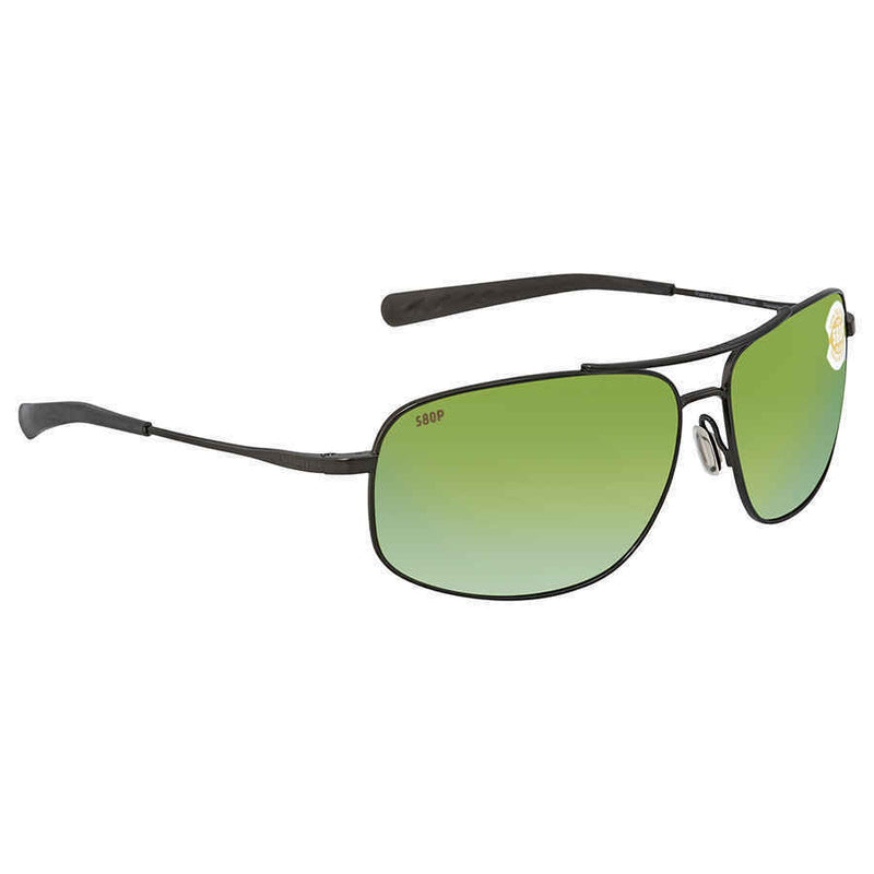 Costa Del Mar Shipmaster Green Mirror Polarized Plastic Aviator Sunglasses SMR