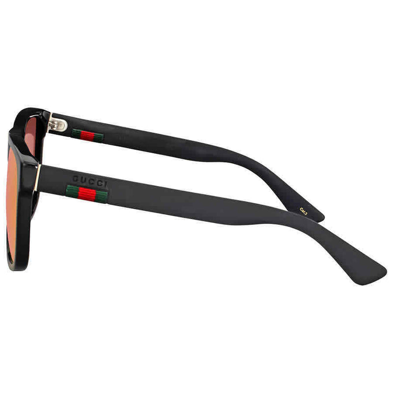 Gucci Red Mirror Square Sunglasses GG0010S-002 58