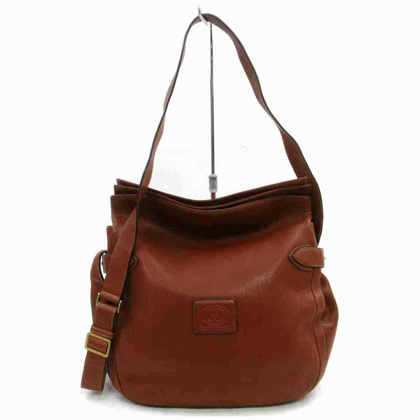 Gucci Shoulder Bag Brown Leather (SHC7-11116)