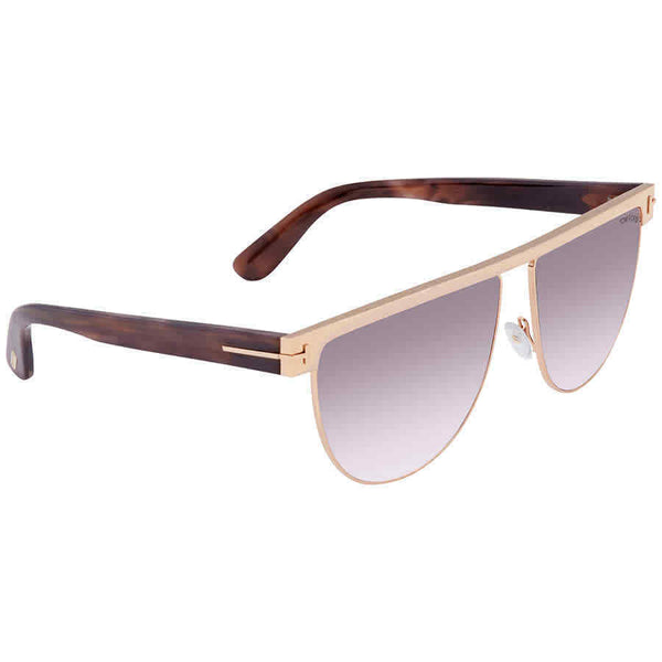 Tom Ford Stephanie Light Pink Gradient Flat Top Ladies Sunglasses FT0570-28Z