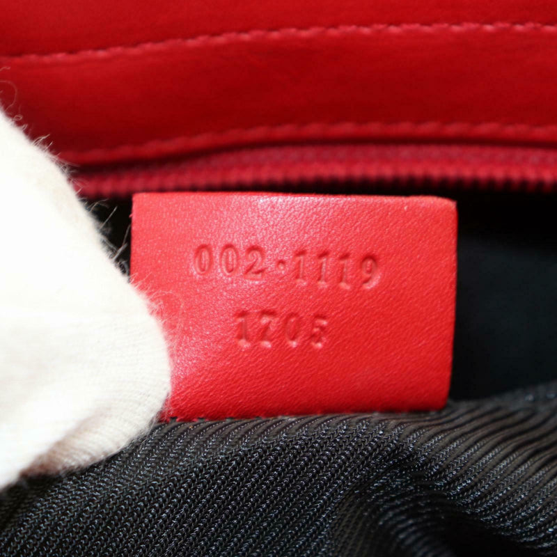Gucci Tote Bag Red Canvas (SHC1-16084)