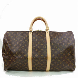 Louis Vuitton Boston Bag Keepall 55 Brown Monogram (SHC1-16108)