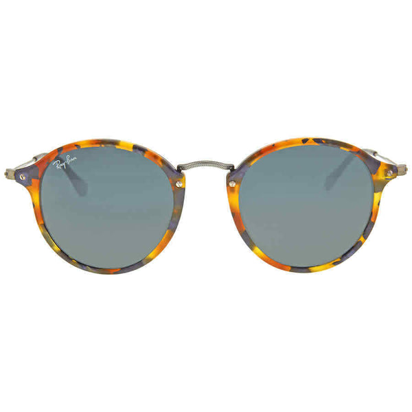 Ray Ban Round Fleck Blue/Gray Classic Sunglasses RB2447 1158R5 49 RB2447 1158R5