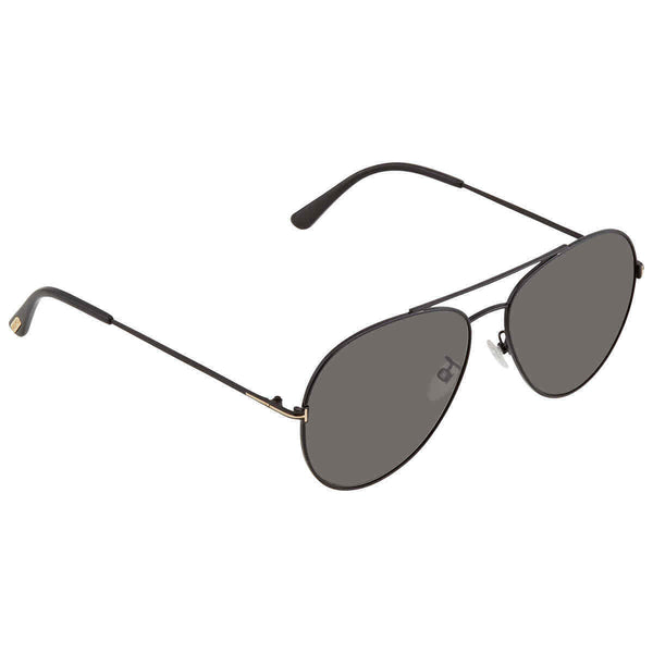 Tom Ford Grey Aviator Unisex Sunglasses FT0636-K 01D 62 FT0636-K 01D 62