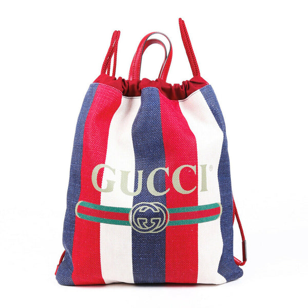 Gucci Backpack Sylvie Logo Canvas Drawstring
