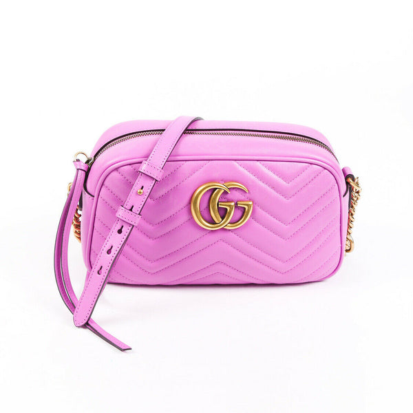 Gucci Bag Matelasse GG Marmont Small Pink Purple Crossbody