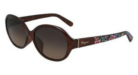 Salvatore Ferragamo Brown Gradient Oval Ladies Sunglasses SF918SA/58/BROWN