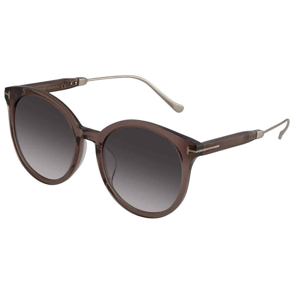 Tom Ford Grey Round Ladies Sunglasses FT0642-K 45F 57 FT0642-K 45F 57