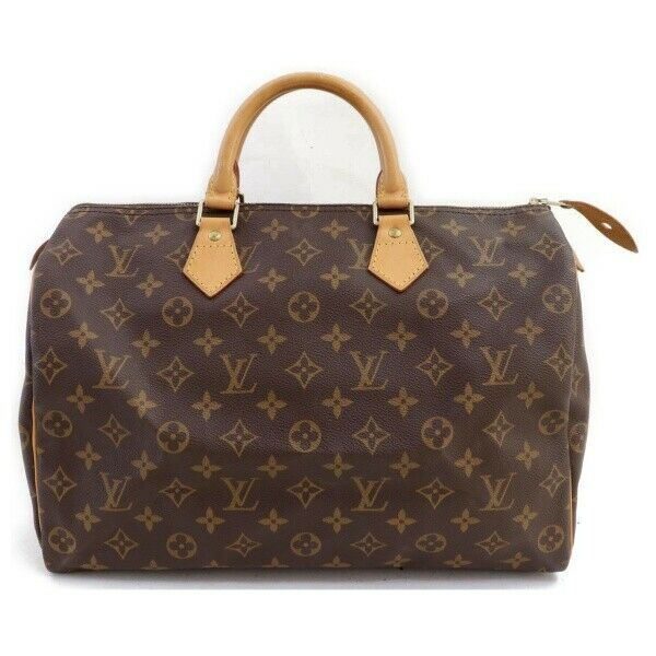 Louis Vuitton Hand Bag Speedy 35 Brown Monogram (SHC7-11043)