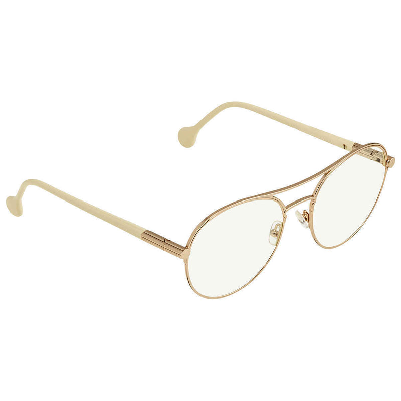 Salvatore Ferragamo Ladies Rose Gold Tone Round Sunglasses SF2174S 784 55