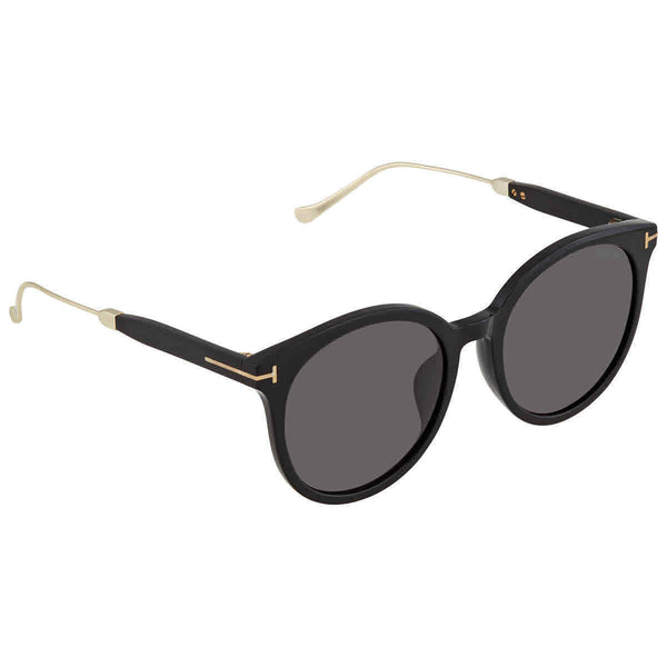Tom Ford Round Ladies Sunglasses FT0642-K 01A 57 FT0642-K 01A 57