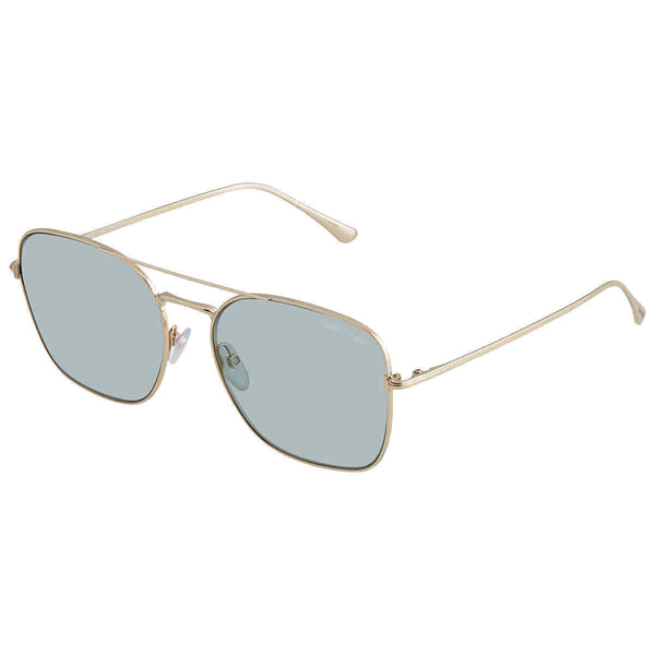 Tom Ford Blau Verspiegelt Aviator Ladies Sunglasses Ft068028x57 FT068028X57