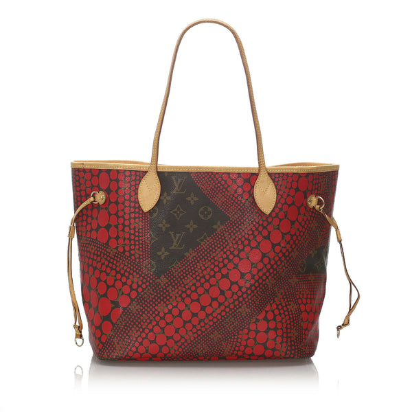 Pre-Loved Louis Vuitton Brown Monogram Kusama Neverfull MM Spain
