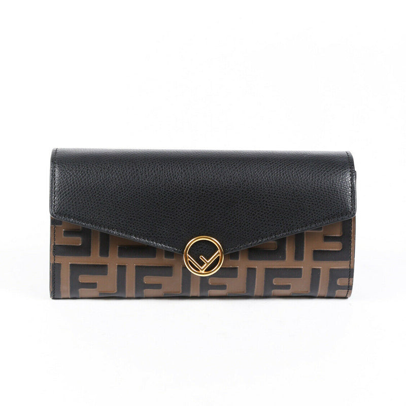 Fendi Bag Zucca Wallet on Chain Brown FF Leather Crossbody