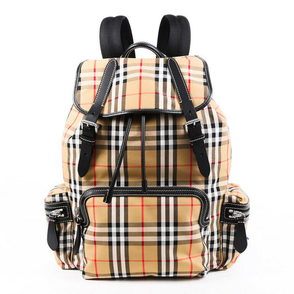 Burberry Backpack Sailing Rucksack Vintage Check Canvas