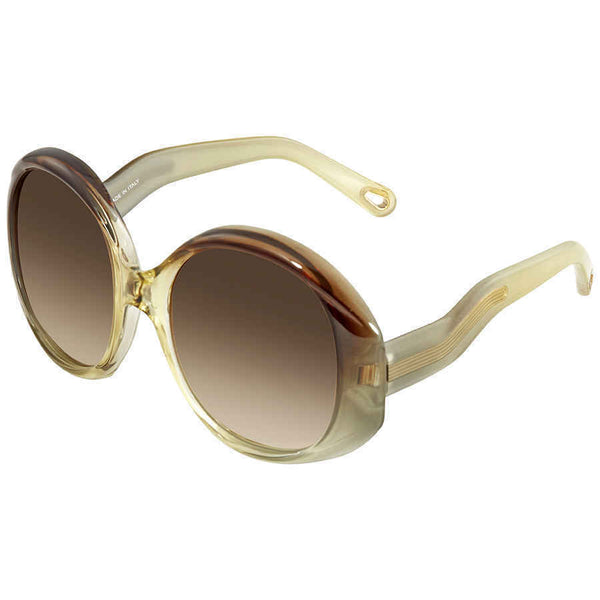 Chloe Round Brown Gradient Sunglasses CE732S 249 57 CE732S 249 57