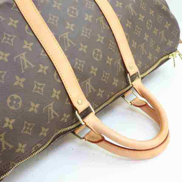 Louis Vuitton Boston Bag Keepall 50 Brown Monogram (SHC7-11057)