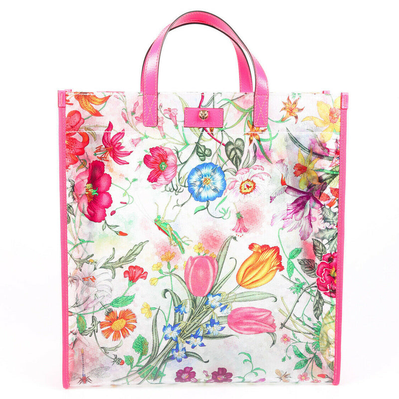 Gucci Bag Flora Multicolor Vinyl Tote