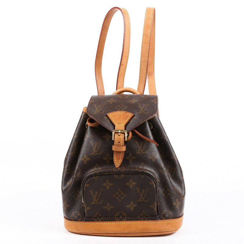 Louis Vuitton Backpack Vintage Montsouris Mini Monogram Coated Canvas