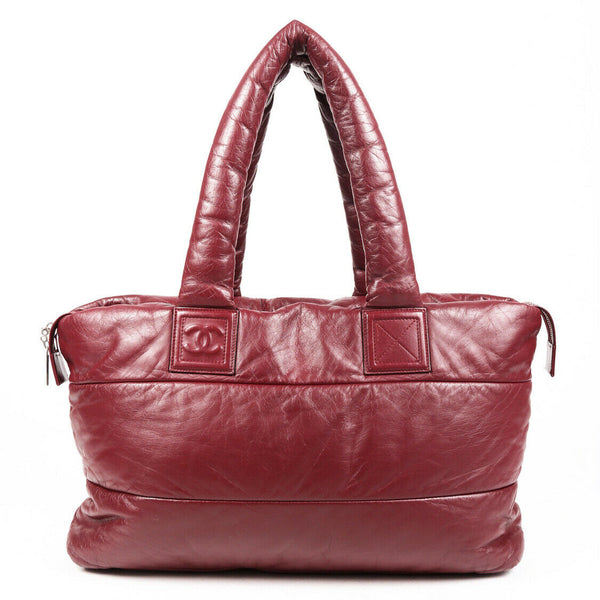 Chanel Bag Coco Cocoon Large Red Quilted Leather Tote