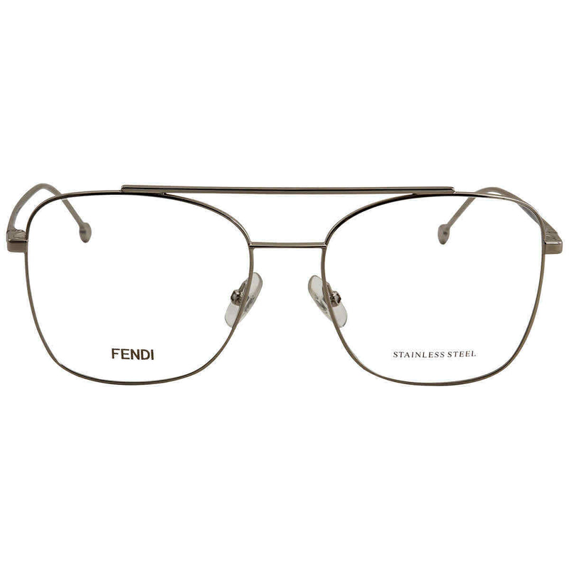 Fendi Palladium Aviator Eyeglasses FF 0354 0010 55 FF 0354 0010 55