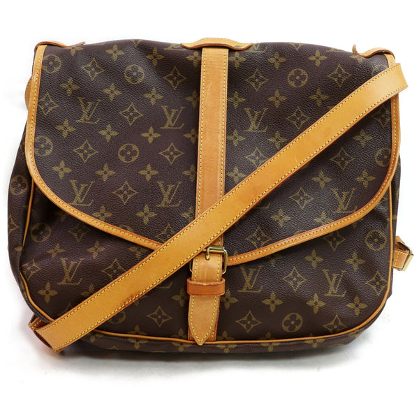 Louis Vuitton Shoulder Bag Saumur 35 Brown Monogram (SHC1-16888)
